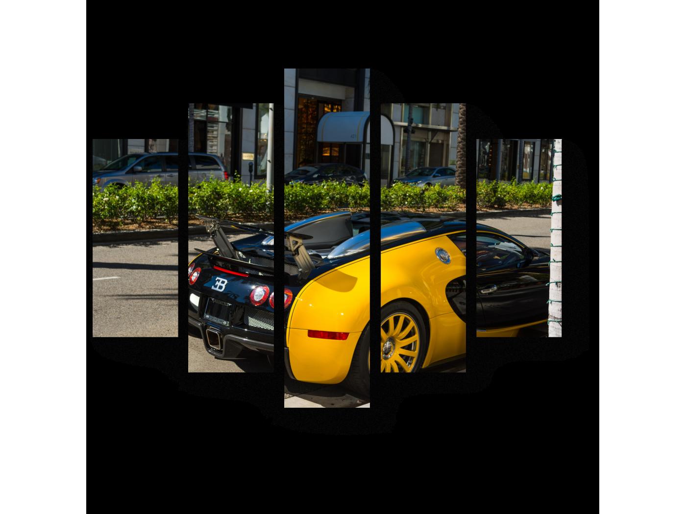 Модульная картина Bugatti Veyron (75x60) фото