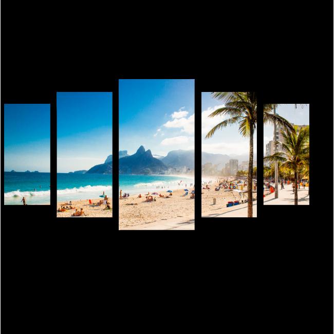 Модульная картина Пальмы солнечного Рио