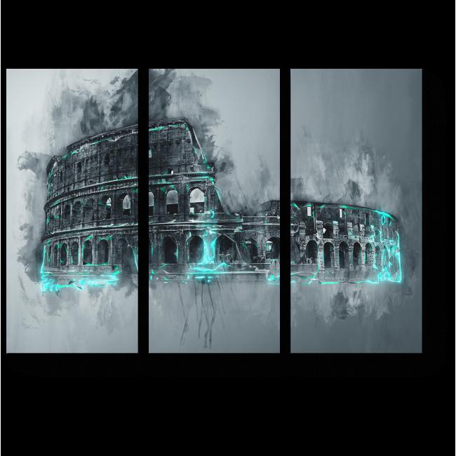 Модульная картина 50 оттенков Рима