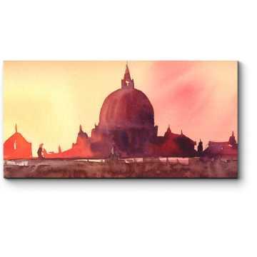 Модульная картина Очаровательная панорама Рима