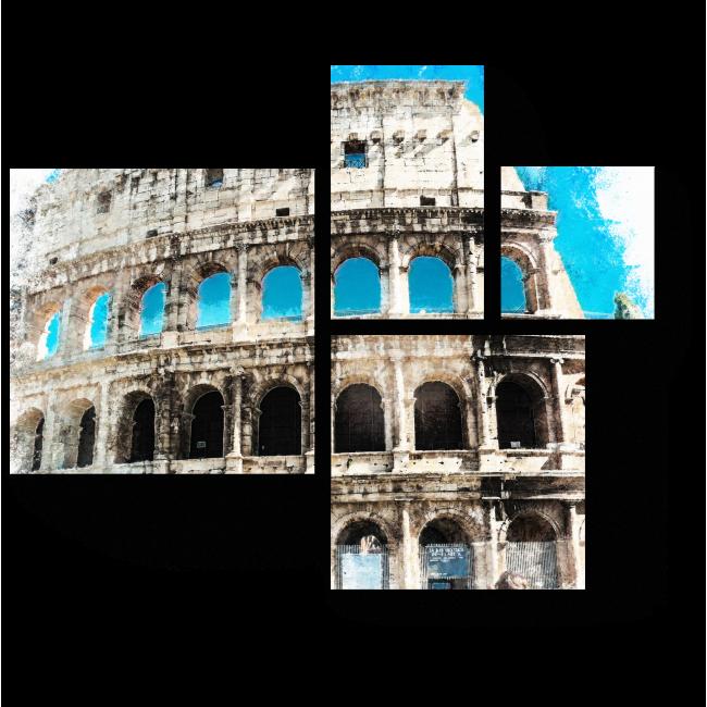 Модульная картина Солнечный Колизей, Рим