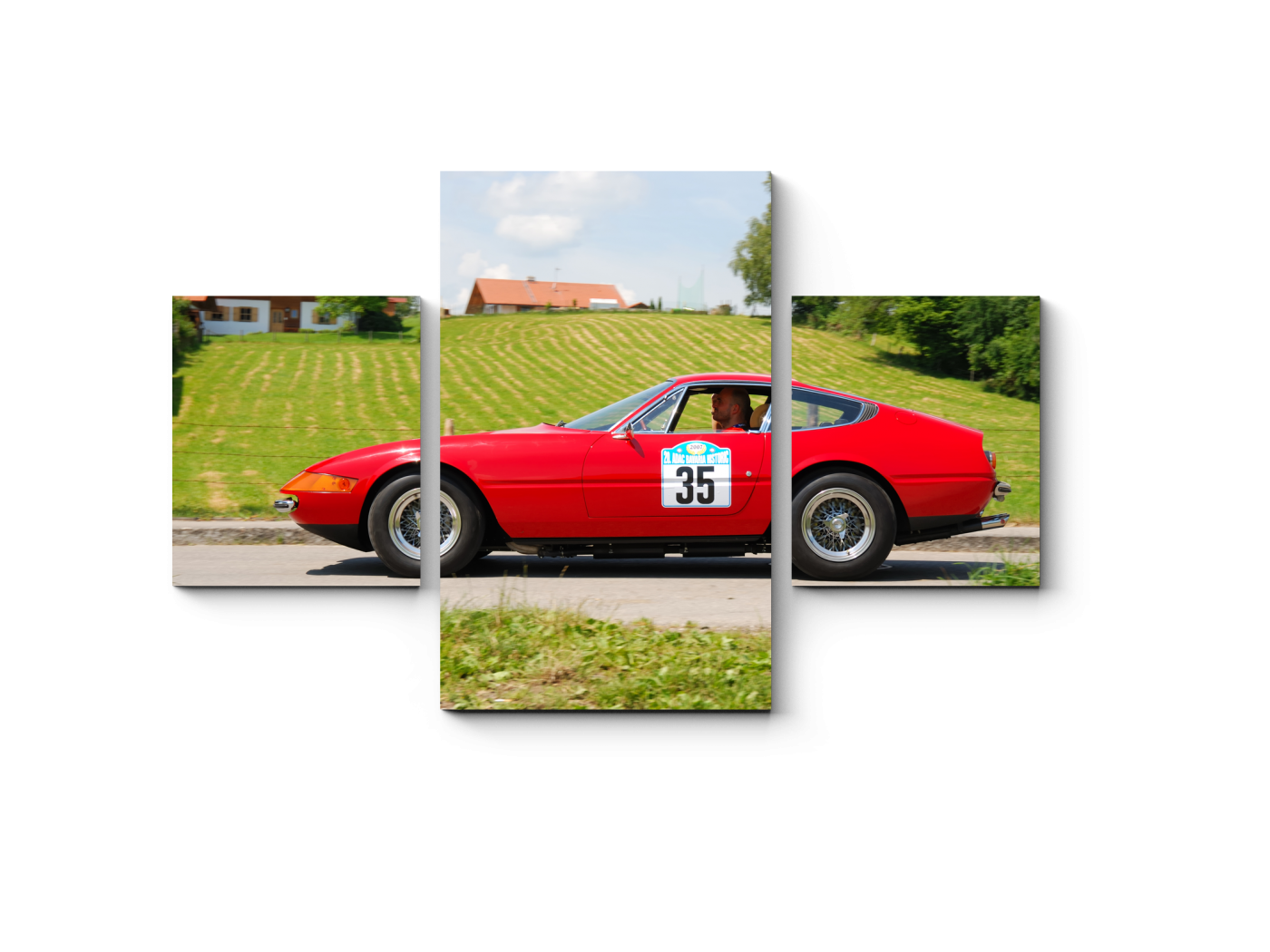 Модульная картина red ferrari (80x52) фото