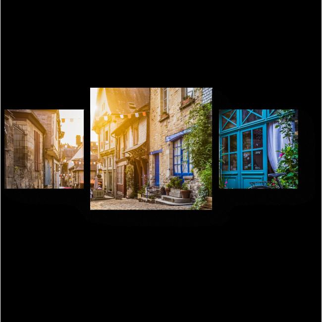 Модульная картина Панорамный вид старого города