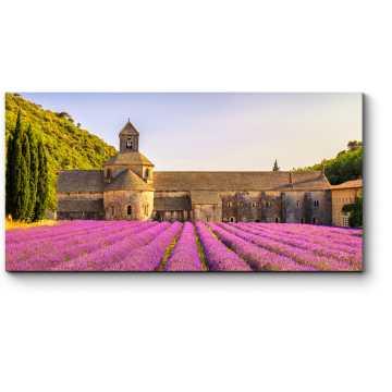 Аббатство Сенанка и цветущие ряды лаванды