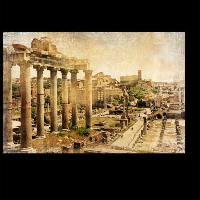 Модульная картина Римский форум, фото в ретро стиле