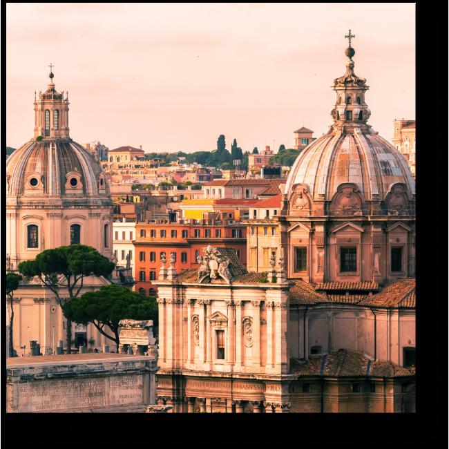 Модульная картина С высоты Римских крыш