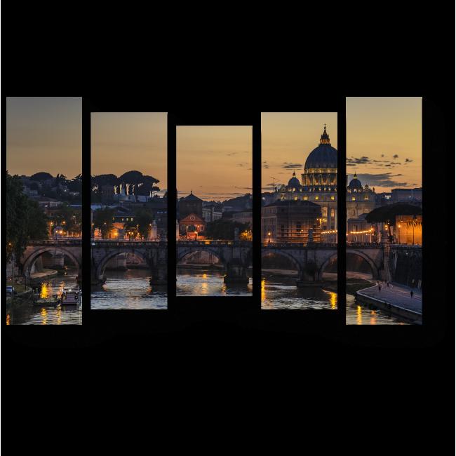 Модульная картина Ватикан на закате, Рим