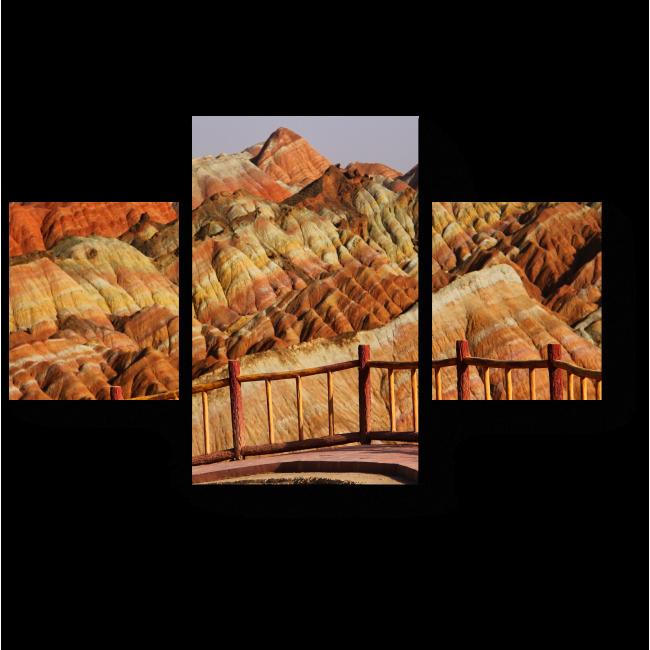 Модульная картина Разноцветные горы