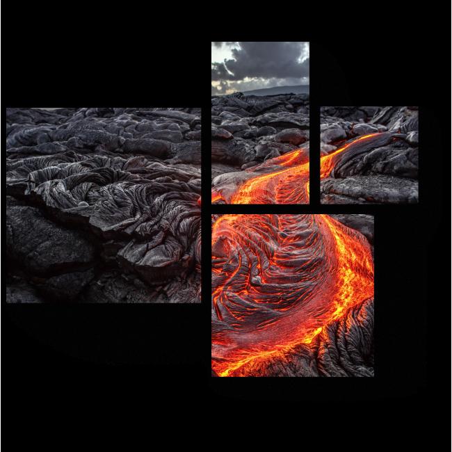 Модульная картина Удивительная лава