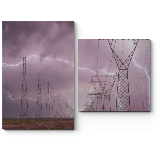 Модульная картина Разряды электричества