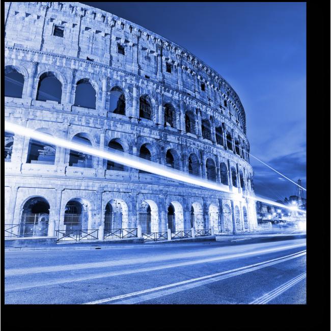 Модульная картина Незабываемый Рим ночью