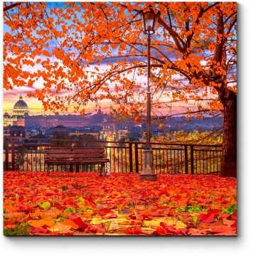Осенний парк в Ватикане, Рим