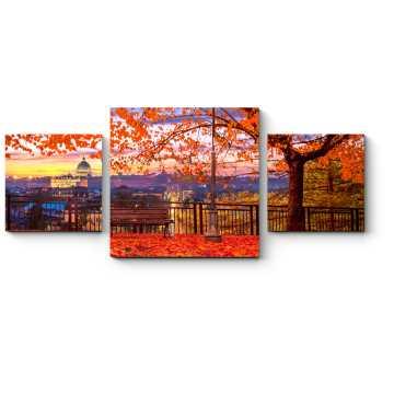 Модульная картина Осенний парк в Ватикане, Рим