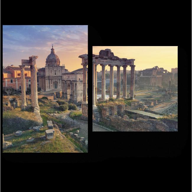 Модульная картина Величественный Римский Форум