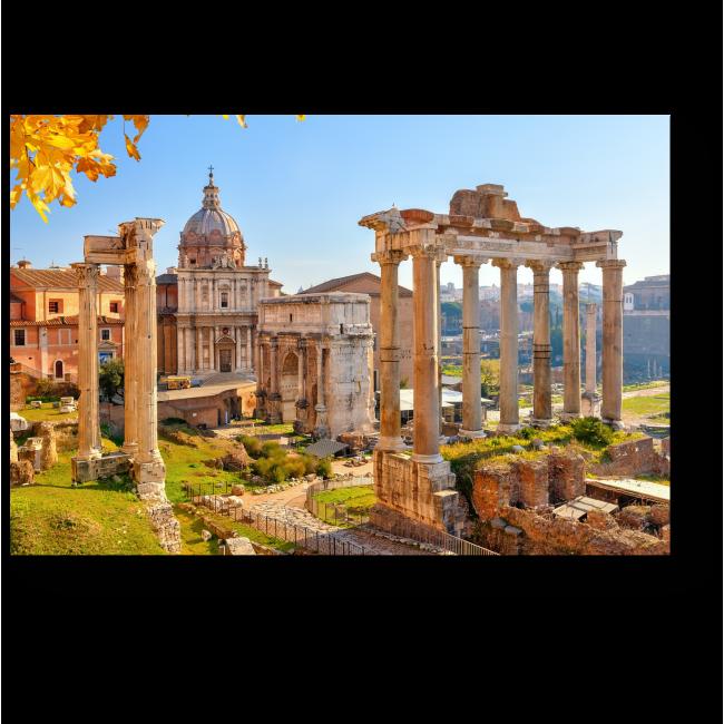 Модульная картина Древние развалины, Рим