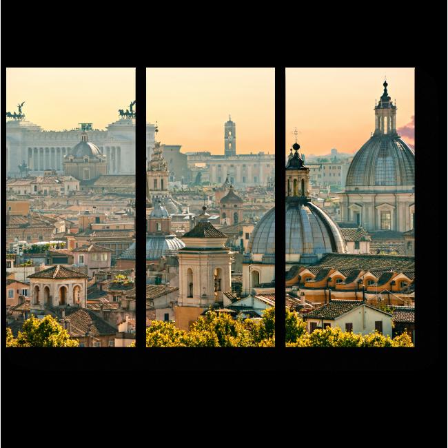 Модульная картина Солнечный Рим