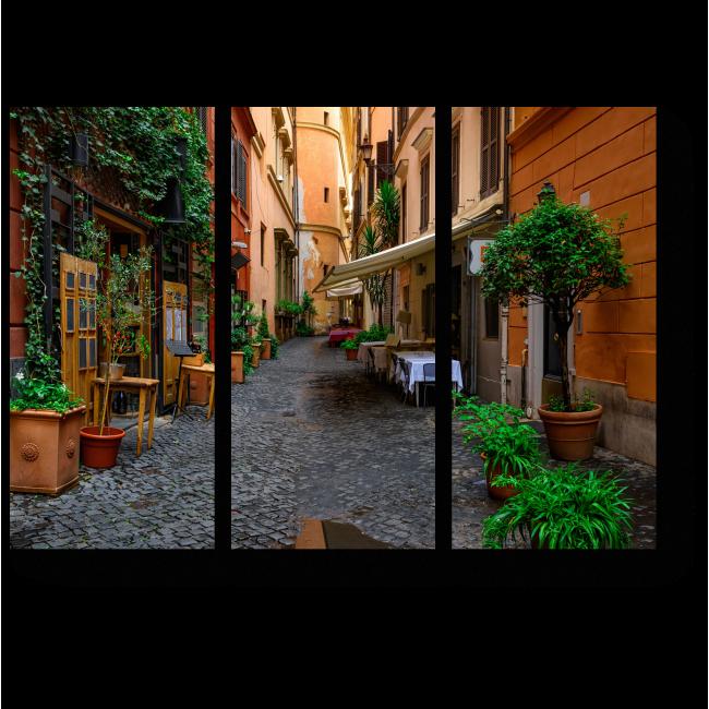 Модульная картина Уютная улочка где-то в Риме