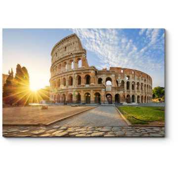 Колизей встречает новый день, Рим