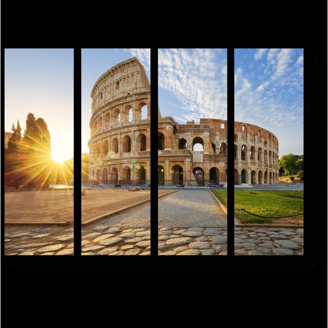 Модульная картина Колизей встречает новый день, Рим