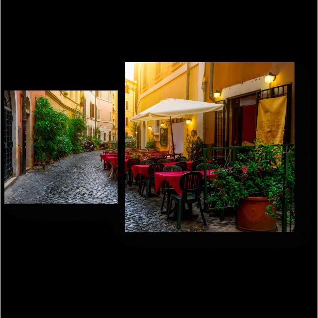 Модульная картина Уютное уличное кафе, Рим