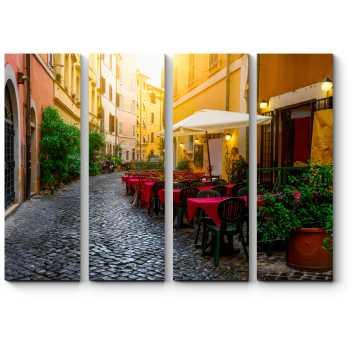 Уютное уличное кафе, Рим