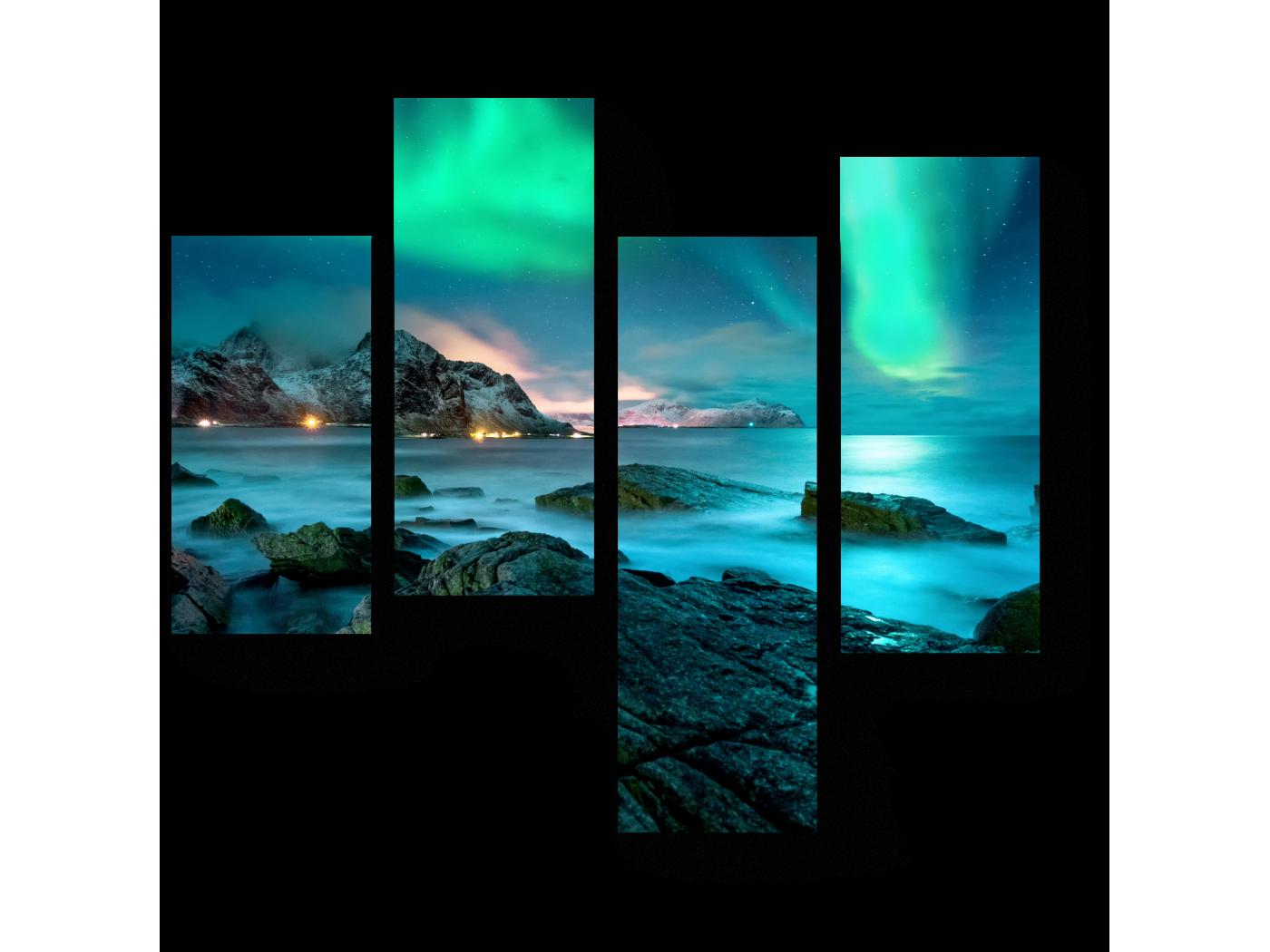 Модульная картина Лазурный свет (64x60) фото