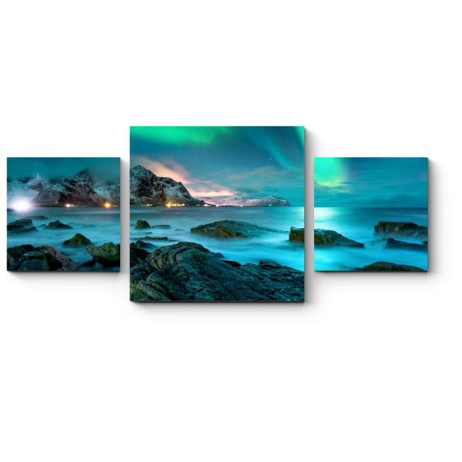 Модульная картина Лазурный свет