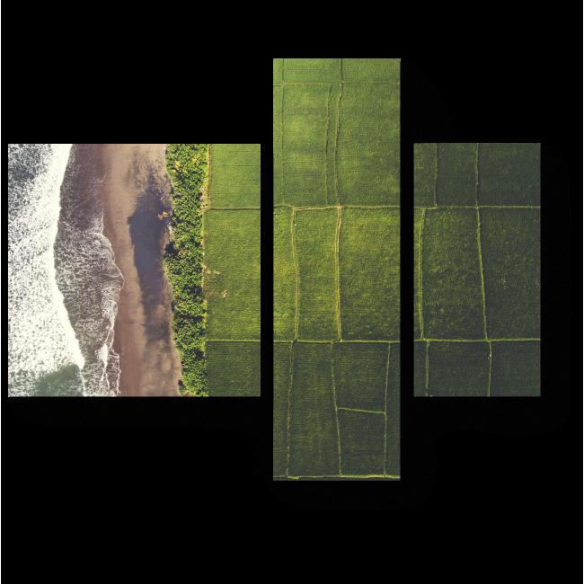 Модульная картина Ферма вдоль побережья