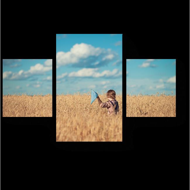 Модульная картина Мальчик в поле
