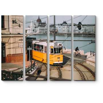 Трамвай по одной из улиц Будапешта
