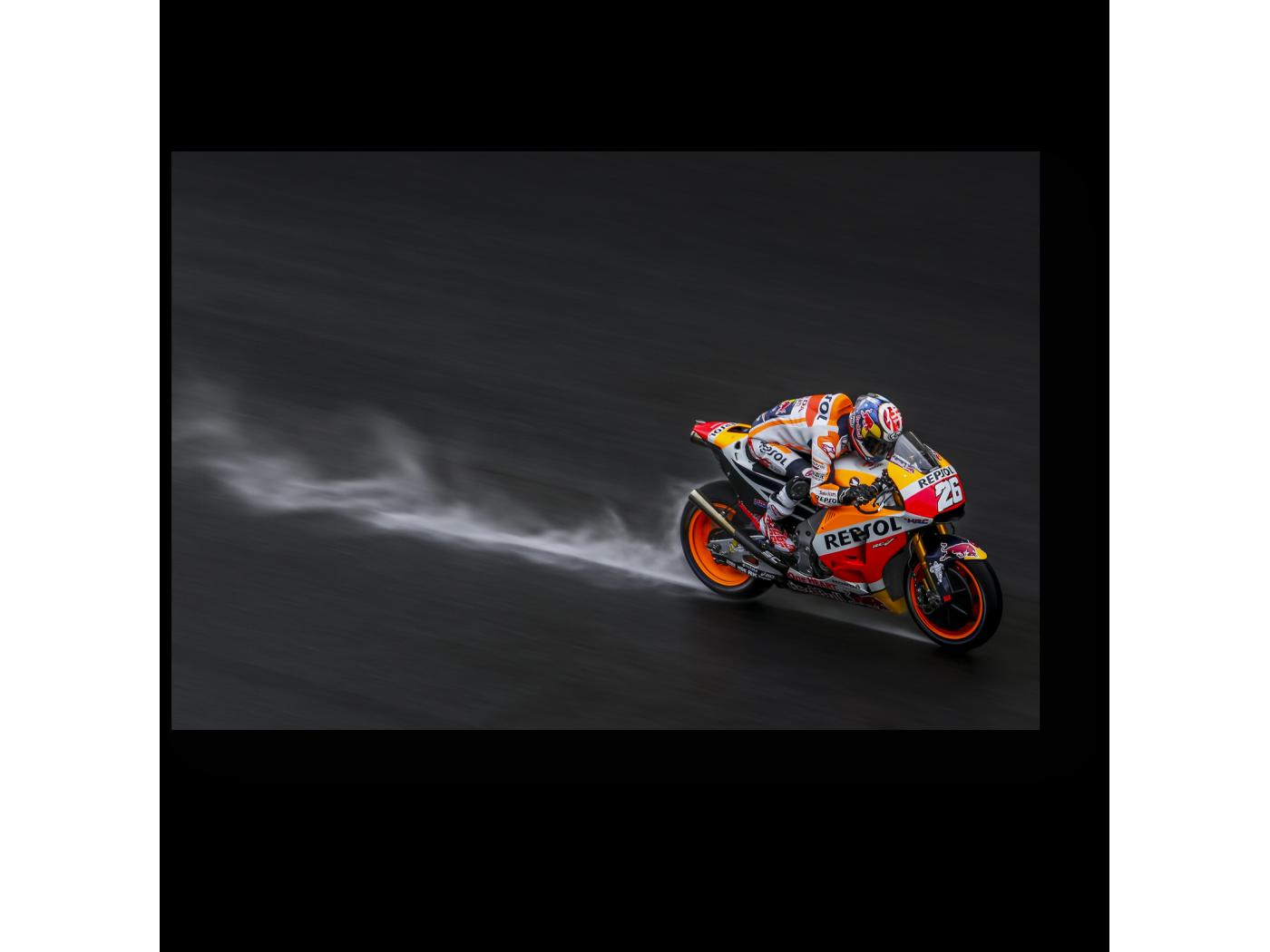 Модульная картина Гонщик команды Repsol Honda (30x20) фото
