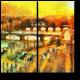 Прага в лучах солнца, масло