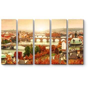 Модульная картина Прекрасные мосты осенней Праги