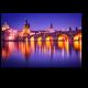 Карлов мост в отражении вод Влтавы, Прага