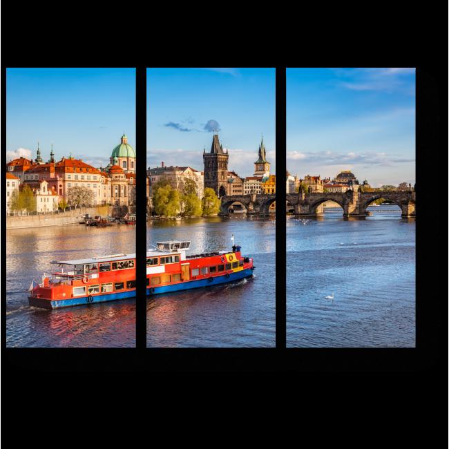 Модульная картина Летняя сказка в Праге
