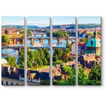 Модульная картина Солнечная Прага