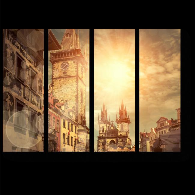 Модульная картина Староместская площадь в солнечный полдень,