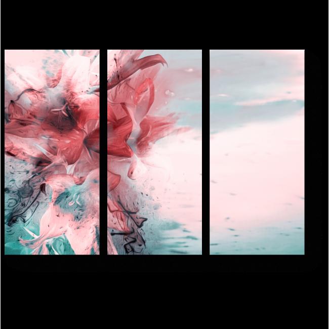 Модульная картина Букет из художественных лилий