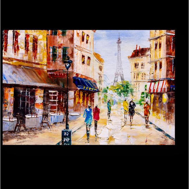 Модульная картина Улица Парижа
