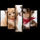 Котенок и щенок акварелью
