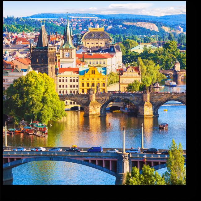 Модульная картина Старый город летним днем, Прага