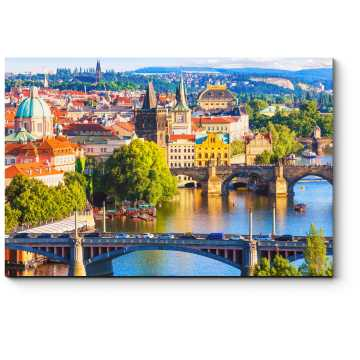 Старый город летним днем, Прага