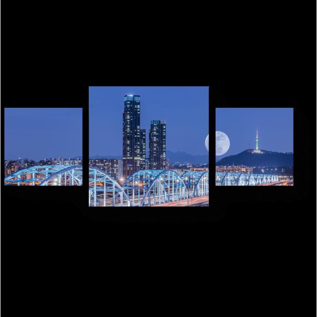 Модульная картина Лунная ночь в Сеуле
