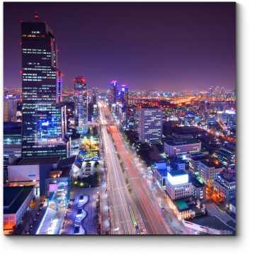 Небоскребы ночного Сеула
