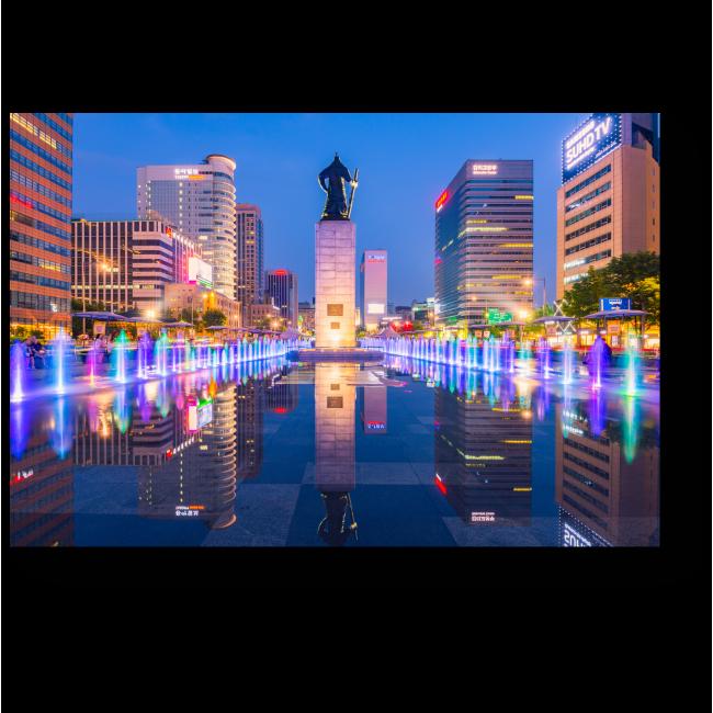 Модульная картина Сияющий Сеул