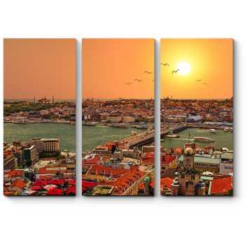 Модульная картина Панорама солнечного Стамбула