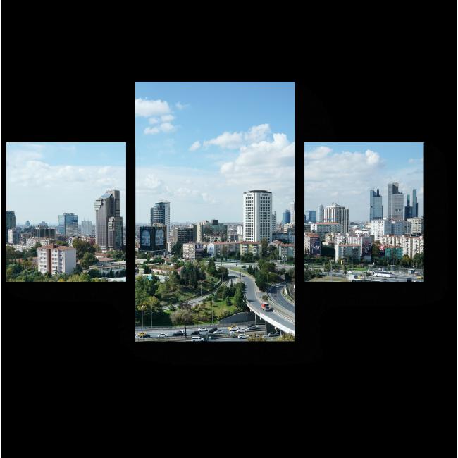 Модульная картина Небоскребы солнечного Стамбула