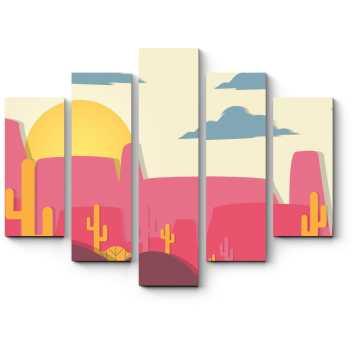 Модульная картина Бумажная пустыня