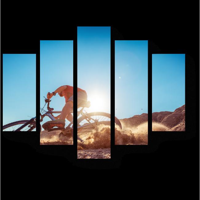 Модульная картина Адреналин в пустыне