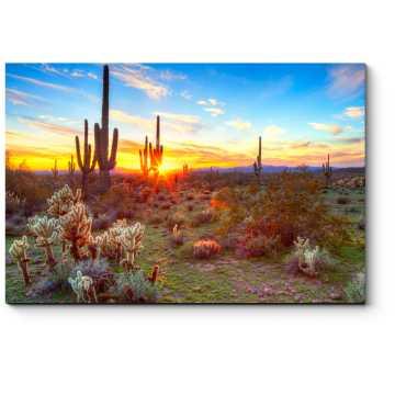 Модульная картина Флора пустыни
